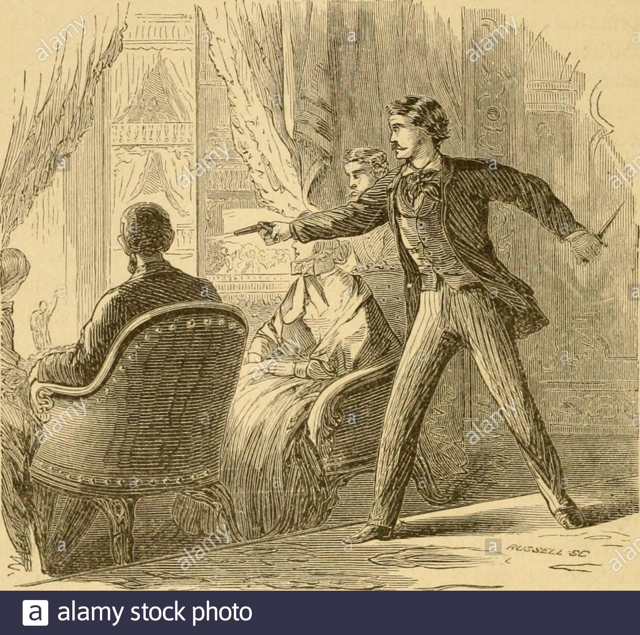 lives-of-the-presidents-of-the-united-states-of-america-from-washington-to-the-present-time-sic-semper-tyrannis-1-rushed-across-it-inthe-terrible-confusion-which-ensued-mounted-a-fleet-horse-at-thedoor-and-esca